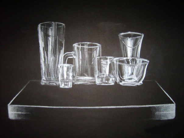 <strong>The study of glass, pastel, 2012</strong>