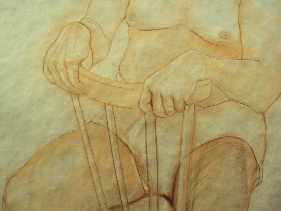 <strong>The study figures, detail of hands, Rudka and chalk, 2013</strong><br />