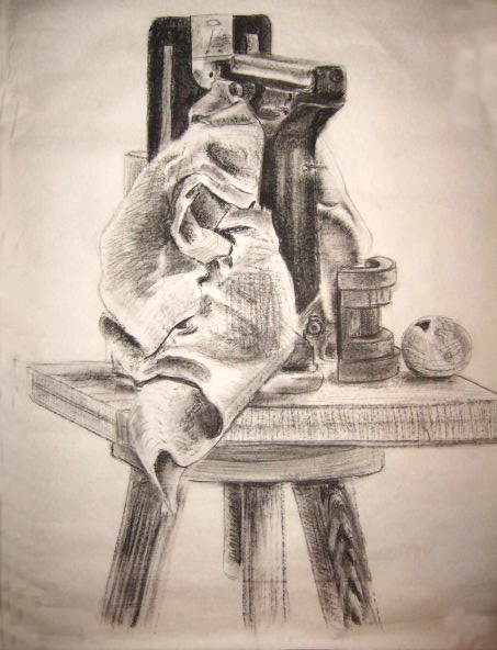 <strong>Still life studies, charcoal on paper, 2012</strong>