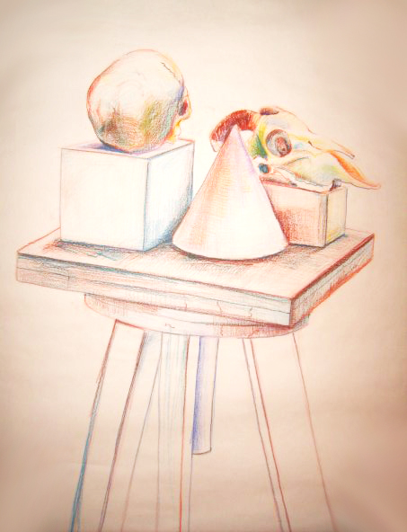 <strong>The study still life, color pastel, 2012</strong>