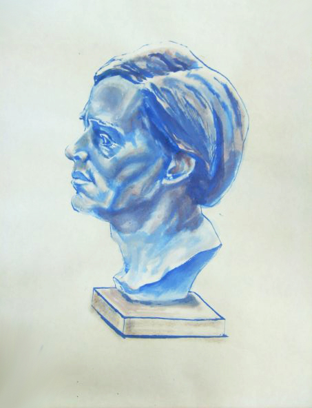 <strong>The study busts, ink, 2013</strong>